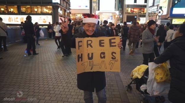 Japonais free hugs