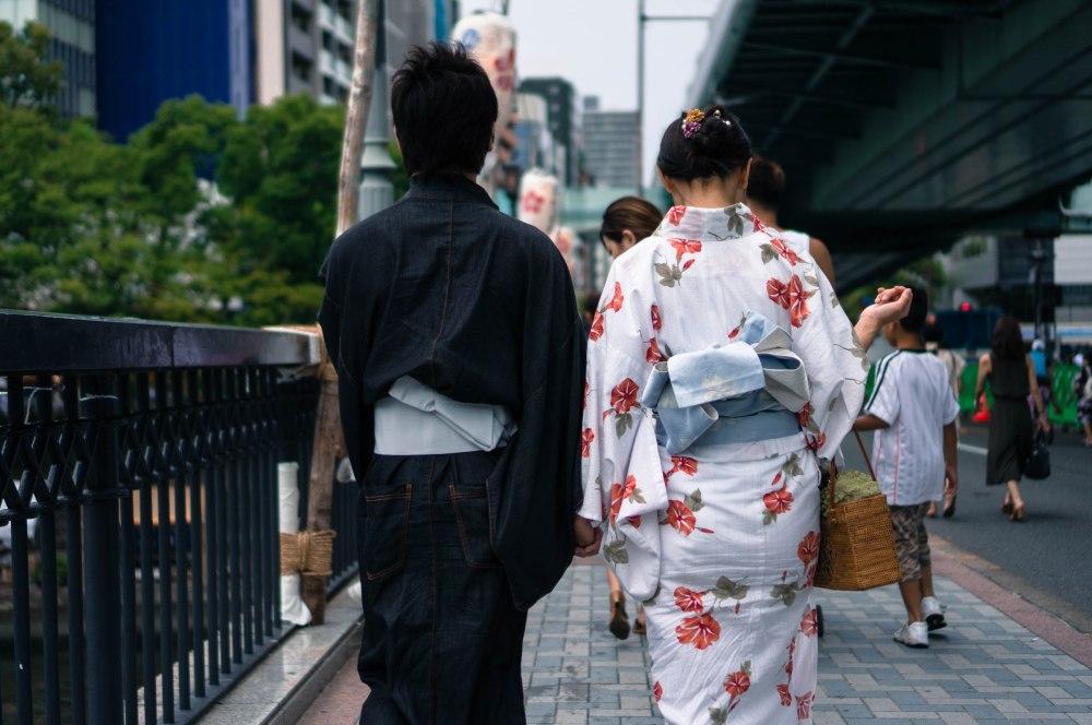Yukata Tenjin Osaka, Japon